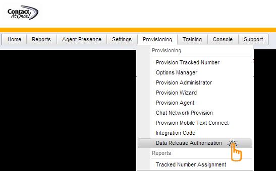 Data Release Authorization