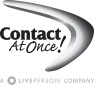 Contact At Once! A Liveperson Company Logo