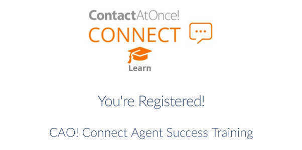CAO! Connect Agent Success